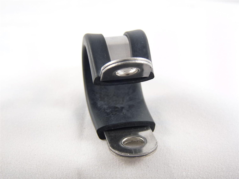 Calidad Superior 5x 22mm Forrada De Goma Clips P Tuber/ía Manguera Abrazadera Acero Inoxidable