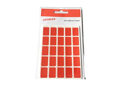 Pack of 125 Assorted Colour 12x18mm Labels Coloured Self Rectangular Stickers