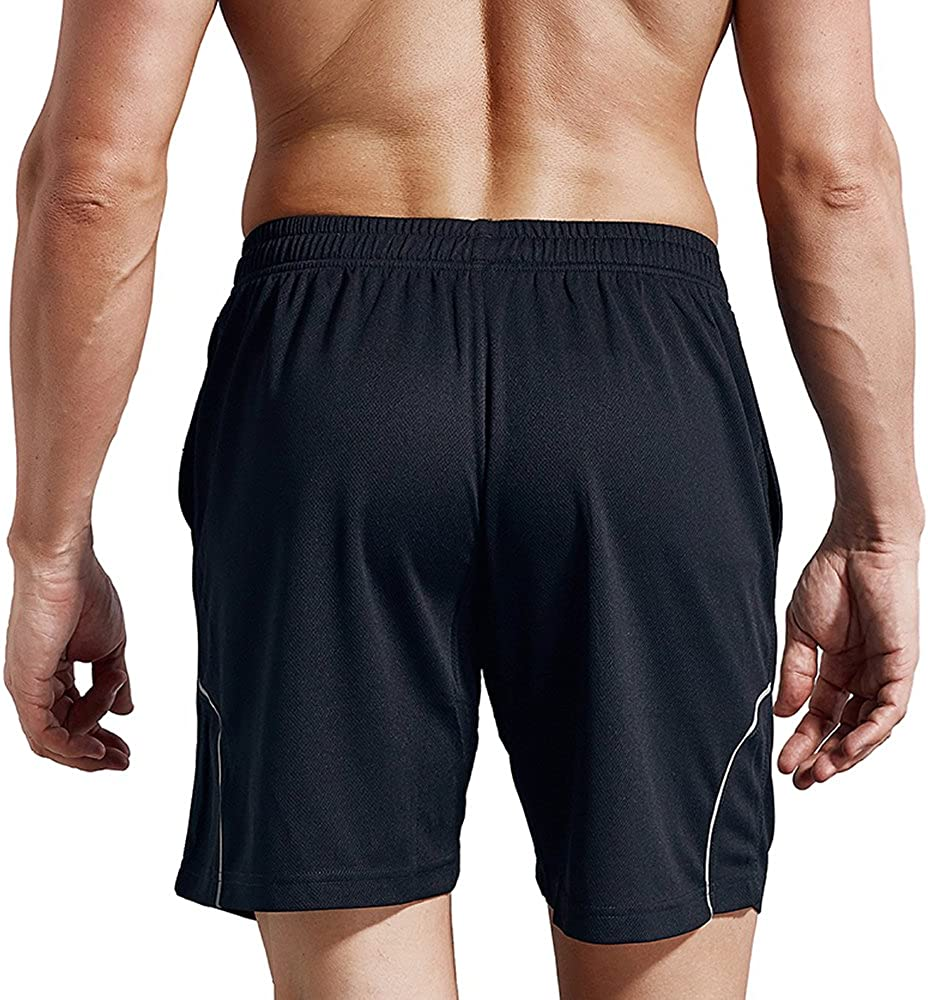 LUWELL PRO Men/'s Running Shorts with Pockets Quick Dry Breathable Active Gym Shorts for Workout,Training,Jogging