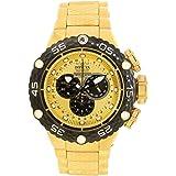 Invicta Men's Subaqua Gold-Tone Steel Bracelet & Case Swiss Quartz Analog Watch 21676