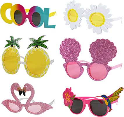 Novelty Tropical Flamingo /& Pineapple Sunglasses Cocktail Party Eye Glasses