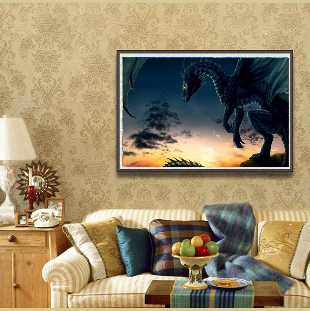 Elephant 5D DIY Diamond Painting ,Diamond Painting by Number Kits for Adults Full Square Drill Rhinestone Embroidery for Wall Decoration 30X30CM//12X12inch