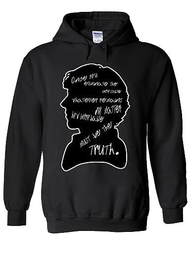 ef83e1e67 Sherlock Holmes British Detective Novelty Black Men Women Unisex Hooded Sweatshirt  Hoodie at Amazon Men's Clothing store: