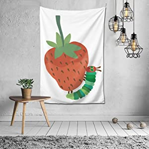 Wbmyyxgs The Very Hungry Caterpillar Colorful Poster Tapestry Wall Hanging Blanket Wall Art Home Decor for Dorm Room Banner 40x60 Inch