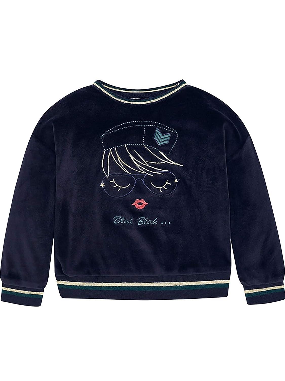 Velvet Pullover for Girls 4458 Mayoral Navy