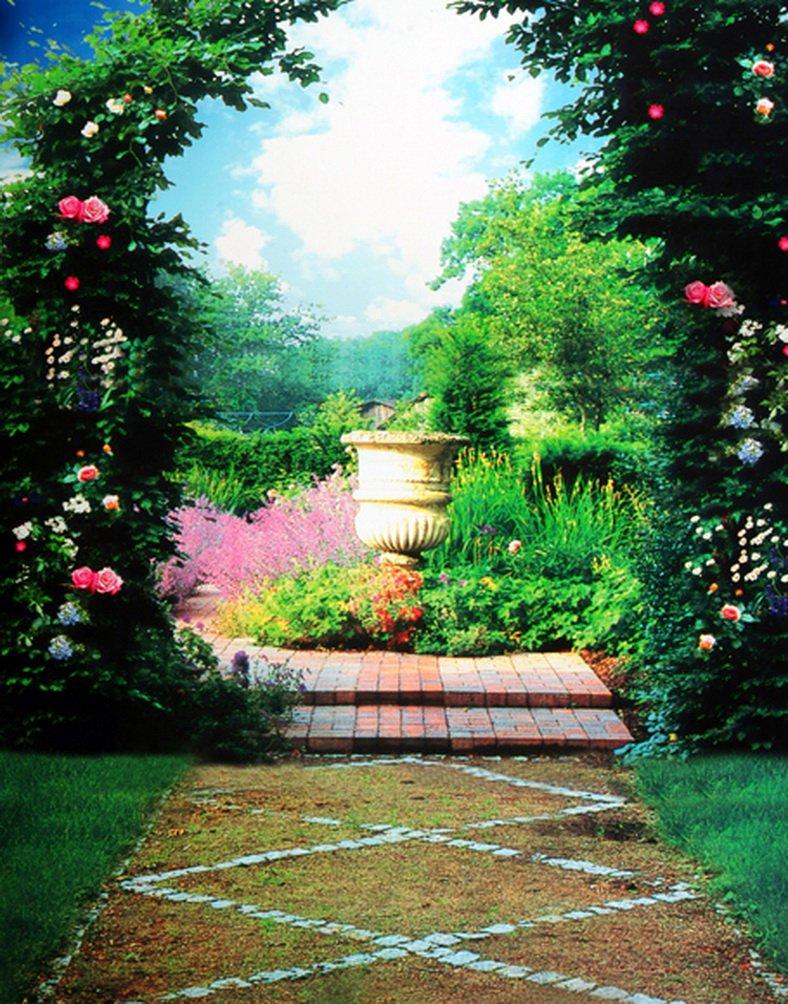 Nature Landscape花ツリー写真の背景幕写真小道具Studio背景5 x 7ft   B01HT6TFA8