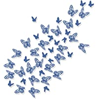 Luxbon 100Pcs 3D Vivid Cardboard Paper Hollow Butterfly Matt Effect Wall Stickers Art Crafts Decals Butterflies Home DIY…