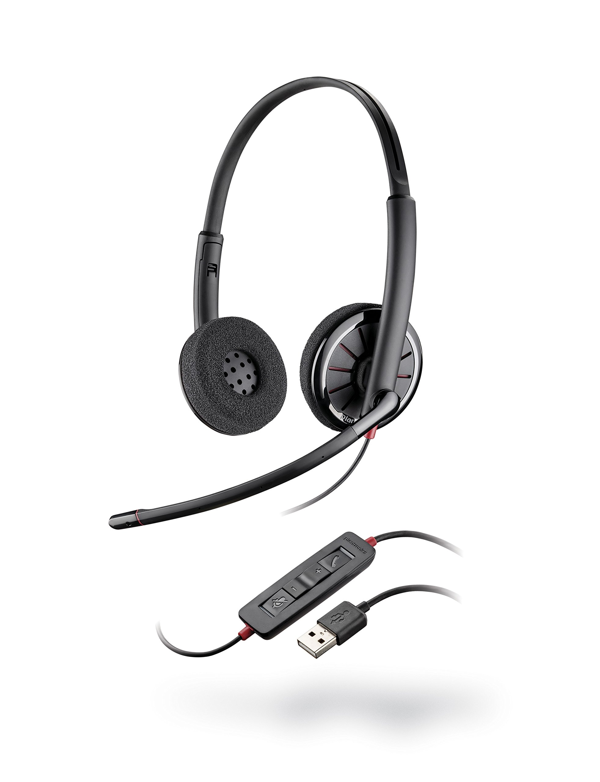 Plantronics 85619-101 Black Wire C320,M, Wired Headset, On- Ear, Gray