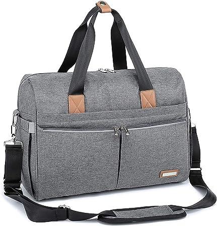 Diseño simple pero versátil - Con una variedad de bolsillos sin y con cremallera, también cuenta con