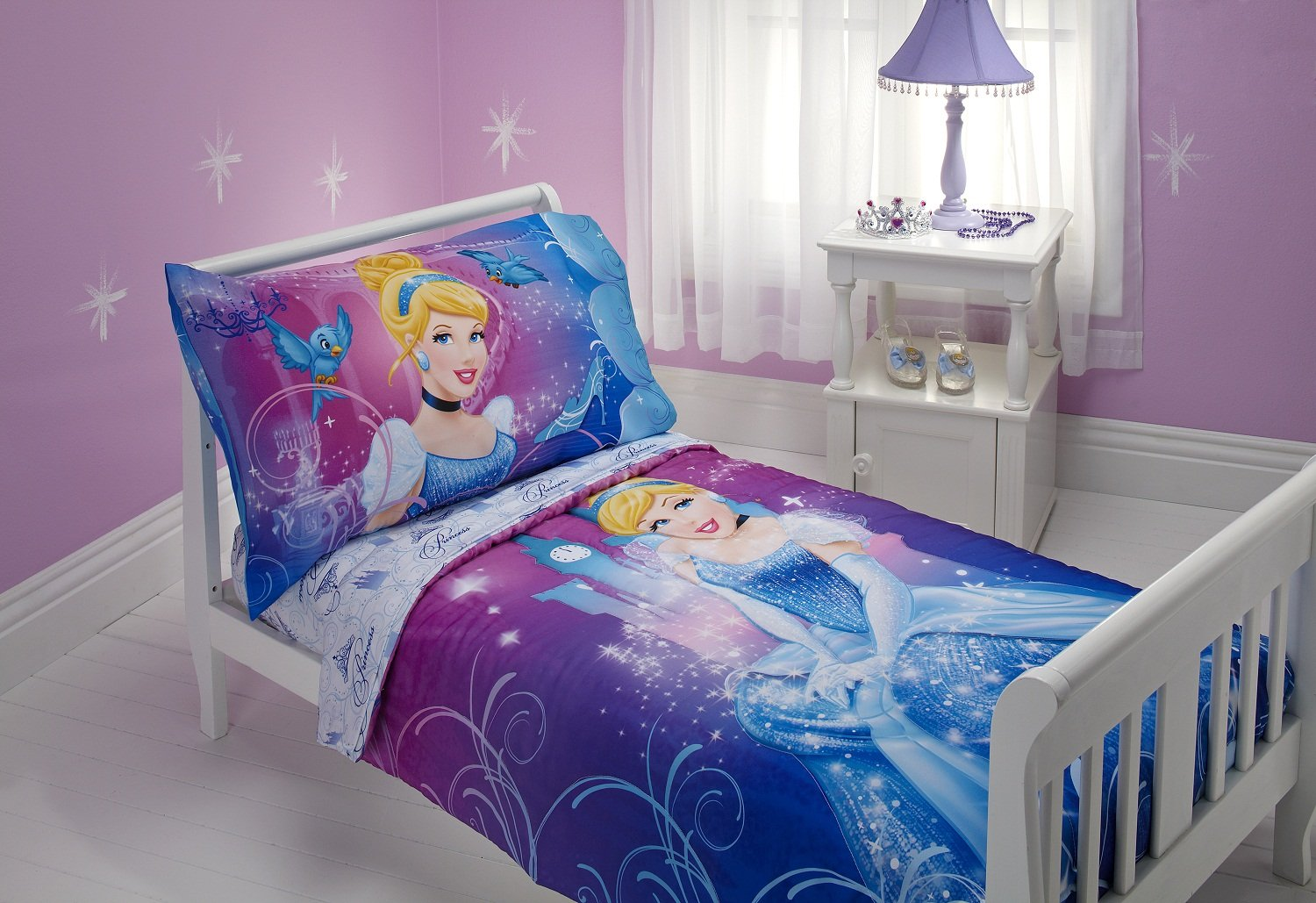 Amazon.com : Disney Cinderella Magic Happens 4 Piece Toddler Bedding Set  (Discontinued By Manufacturer) : Baby