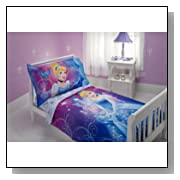 Disney Cinderella Magic Happens 4 Piece Toddler Bedding Set