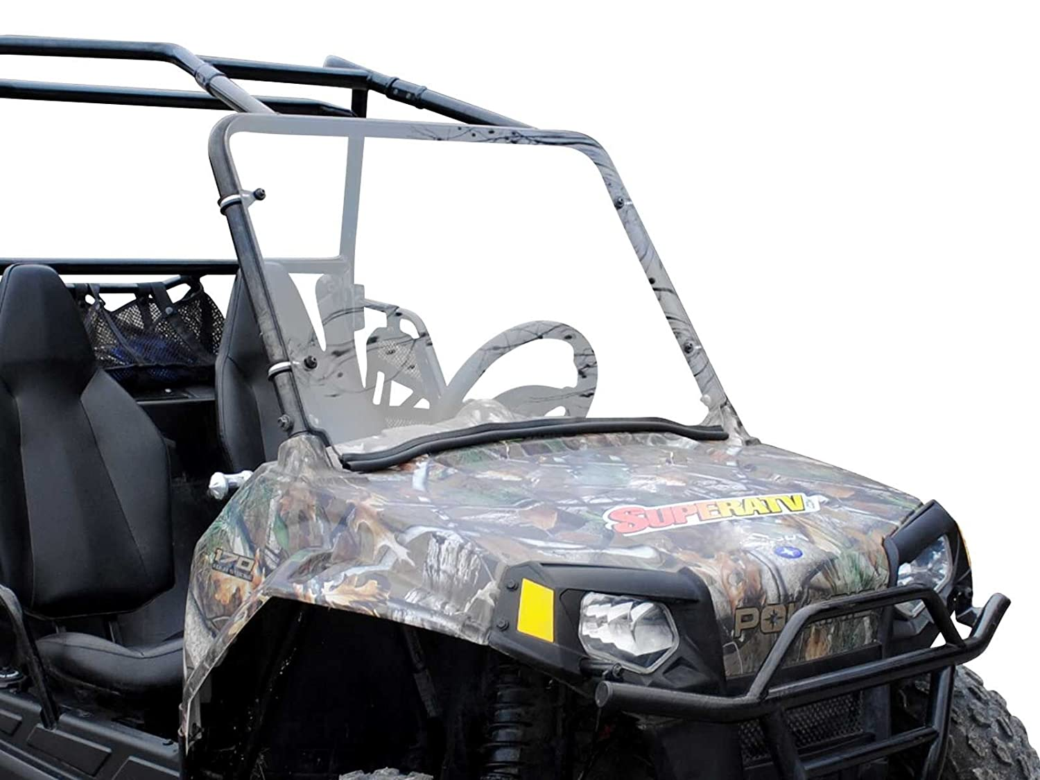 XP 4 900 See Fitment for Compatible Years SuperATV Heavy Duty Clear Full Windshield for Polaris RZR 800//800 S XP 900//570 Easy Install! 800 4