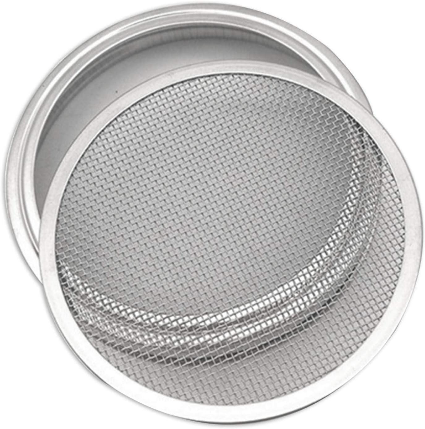 Sroomcla Kit de Tapa de Tarro de germinaci/ón de Acero Inoxidable 304 Kit de Tapa de germinador de Semillas de colador de Malla para tarros de mas/ón de Boca Ancha enlatados fabricaci/ón de Designer