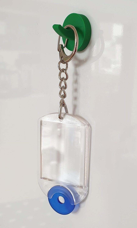 5 x Neodym-Magnethaken mit Kunststoffgeh/äuse rund rot-verkehrsrot RAL 3020 25mm