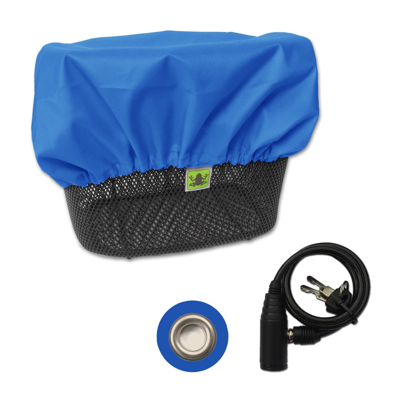 Sportliche wasserdichte MadeForRain Regenhülle mit Diebstahlschutz für Fahrradkörbe CityTurtle AntiTheft Königsblau Amazon Sport & Freizeit
