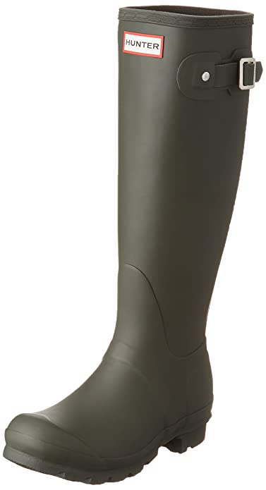 Hunter Original Tall, Stivali di Gomma Donna, Dark Olive, 36 EU