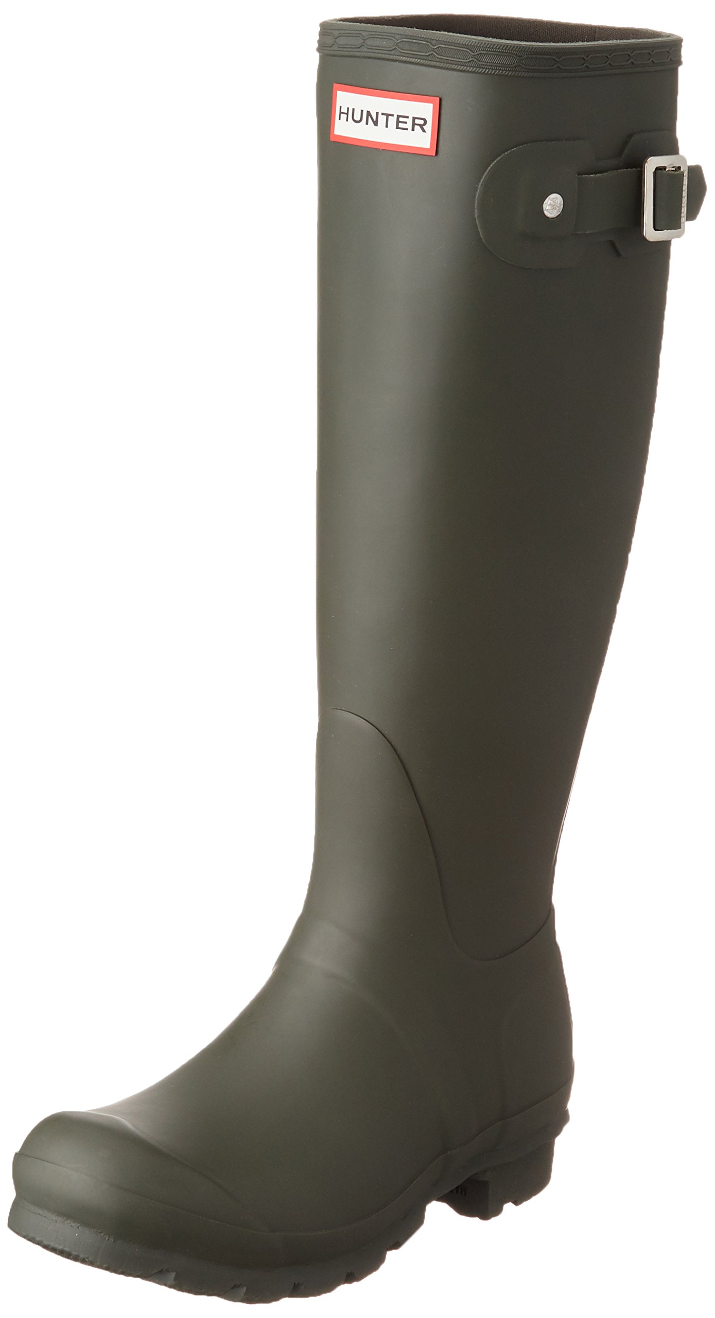 Hunter Women's Original Tall Dark Olive Rain Boots - 7 B(M) US