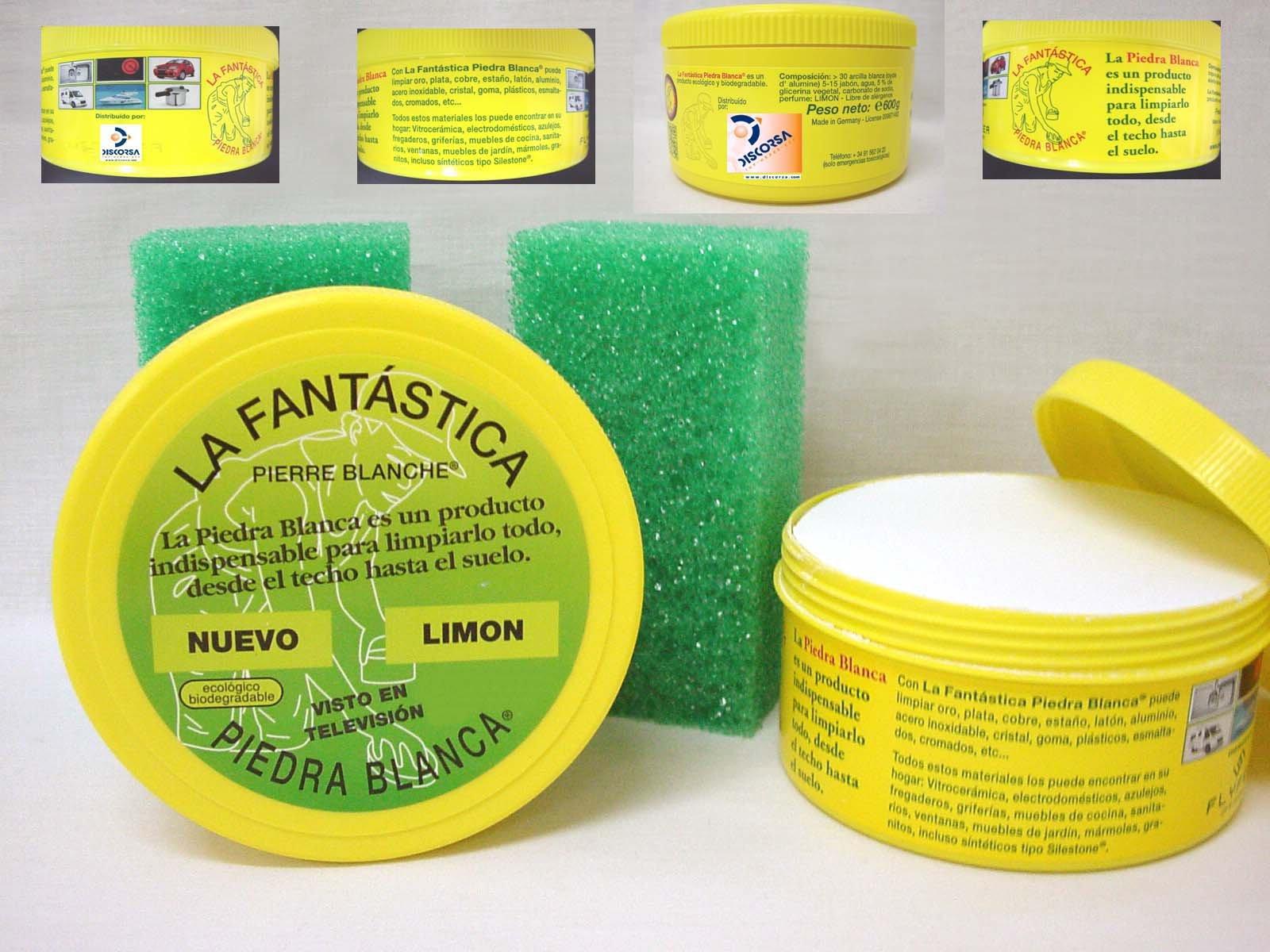 LA FANTASTICA PIEDRA BLANCA (ARCILLA CON REGALO DE ESPONJA) BOTE 600 GRAMOS product image