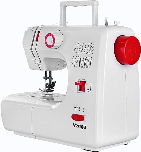 Venga! Máquina de coser 16 programas, hilo doble, 2 velocidades ...