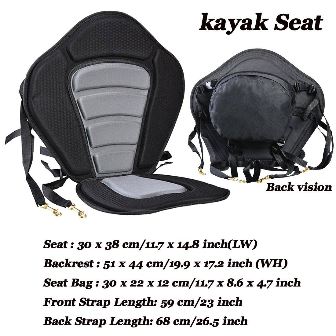 réglable Bateau Coussin d'assise pour kayak Drifting Bateau mezzanine canoë etc. durable (1pièce)