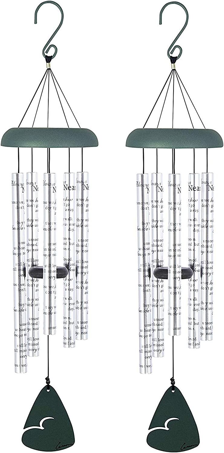 Carson Home Accents Always Near 30 Inch Sonnet Memorial Wind Chime (2 Pack)