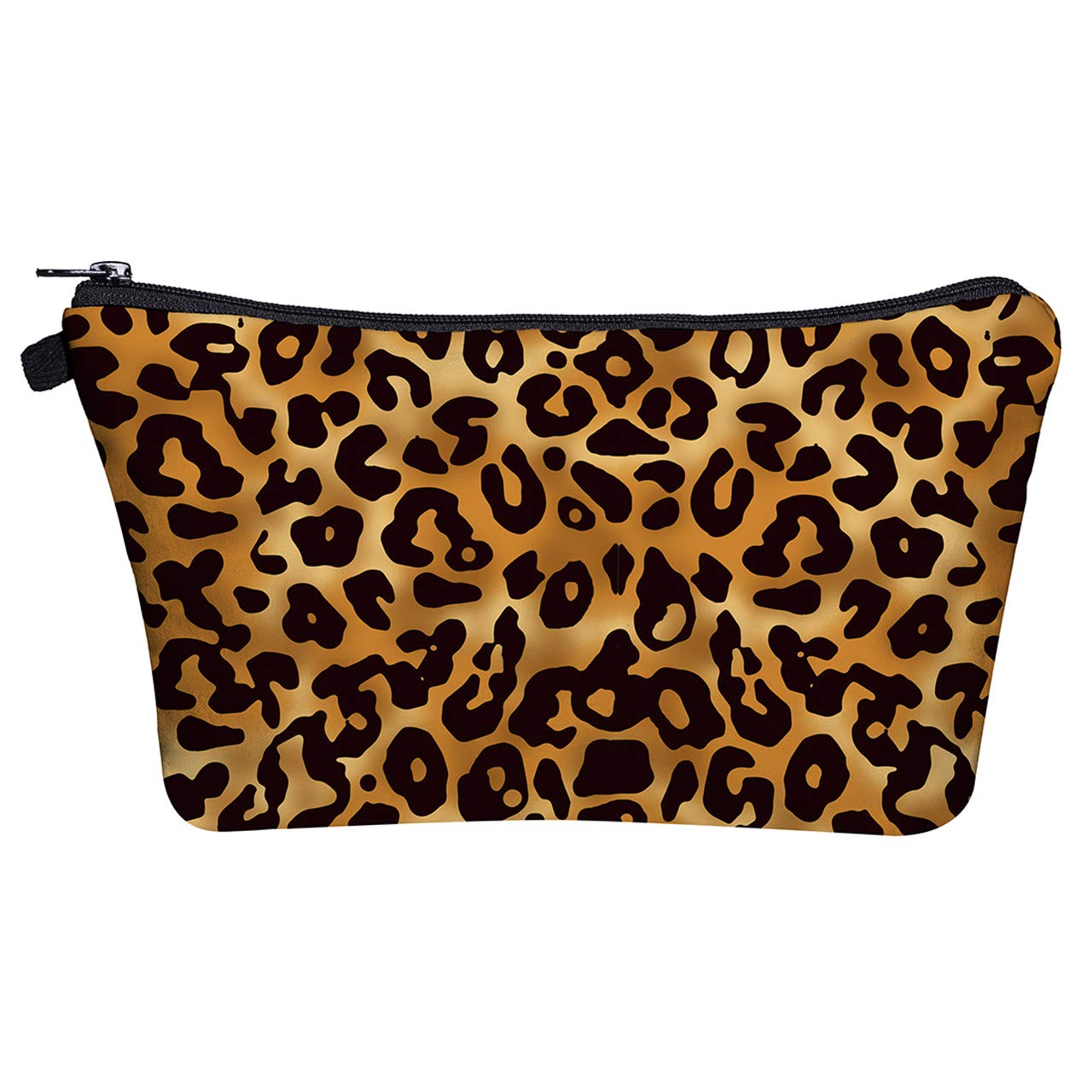 CCbeauty Portable Cosmetic Bag Organizer Travel Magic 3D Printing Makeup Bags Waterproof Leopard Brush Storage Pouch for Women Purse (03)