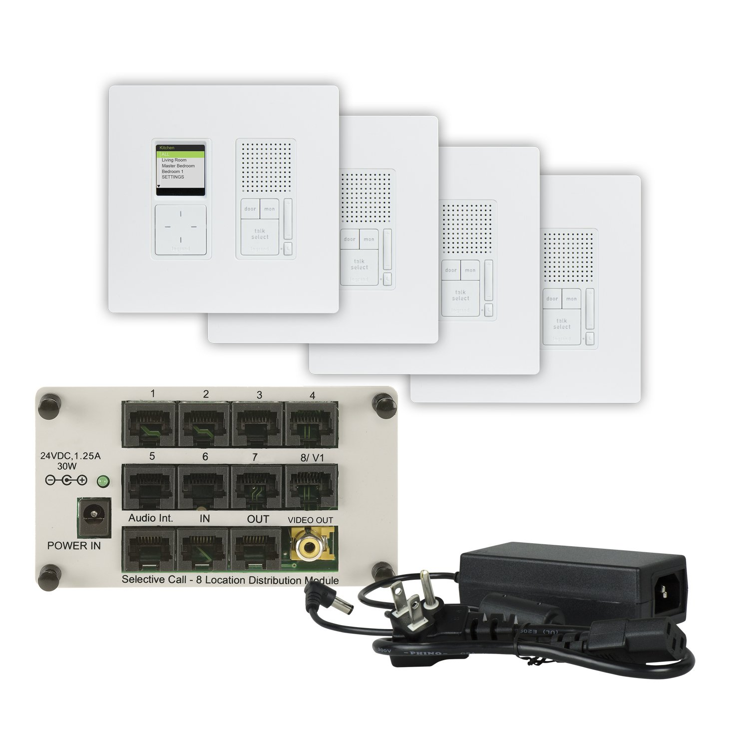 Legrand On Q Ic7400wh Ic7400 Wh Radiant Selective Call 4 Room Onq Wiring Diagram Intercom Kit White