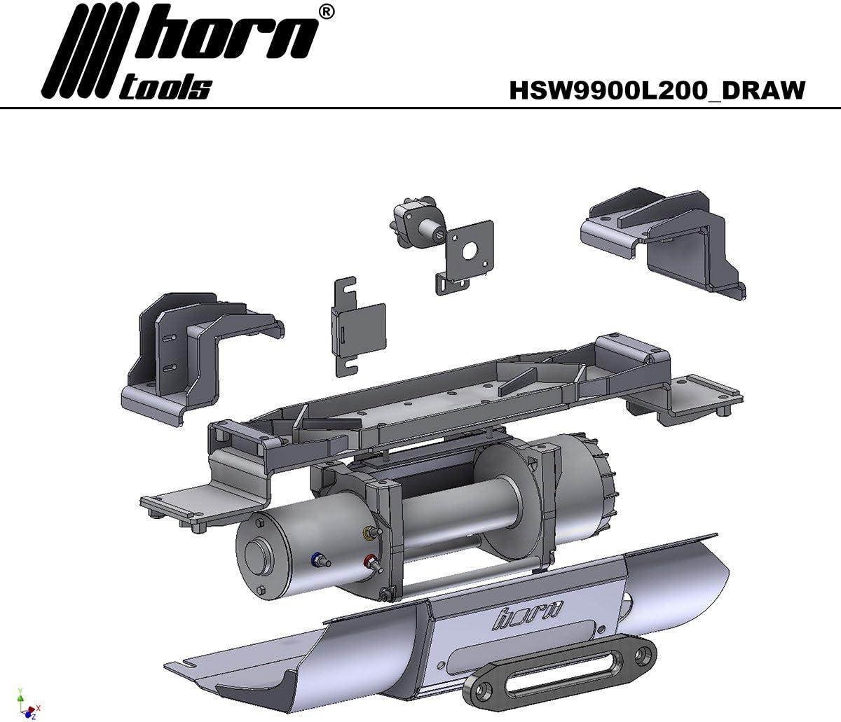 Horntools Alpha 9.9 L200 - Set de cabrestante para sistema de ...