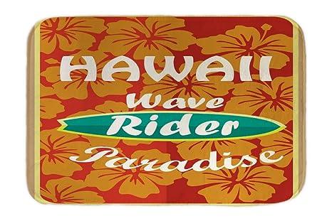 Cama Perro Viaje Por El Mundo Onda de Hawaii impreso 40x60 cm