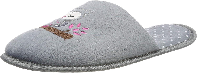 Intermax - Pantuflas de terciopelo suave para mujer, diseño de búho