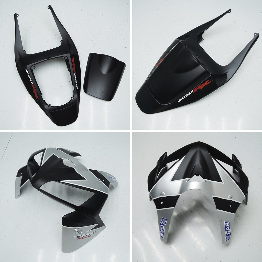 Wotefusi Brand New Motorcycle ABS Plastic Painted Injection Mold Bodywork Fairing Kit Set For Honda CBR 600RR CBR600RR F5 2005 2006 Black Silver