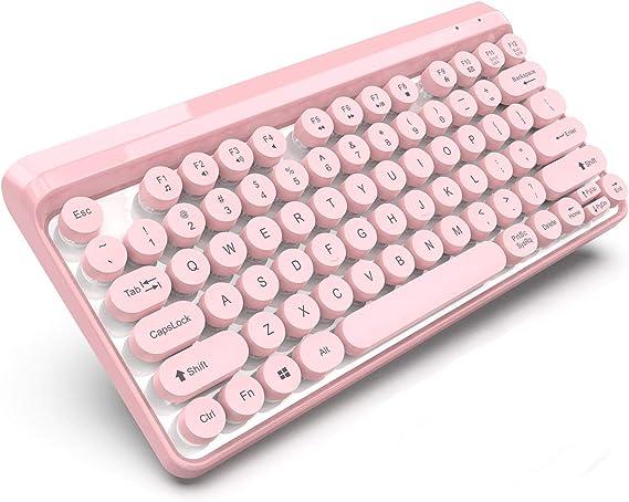 LYYN Moda Rosa Teclado y ratón Accesorios para PC 2.4G ...