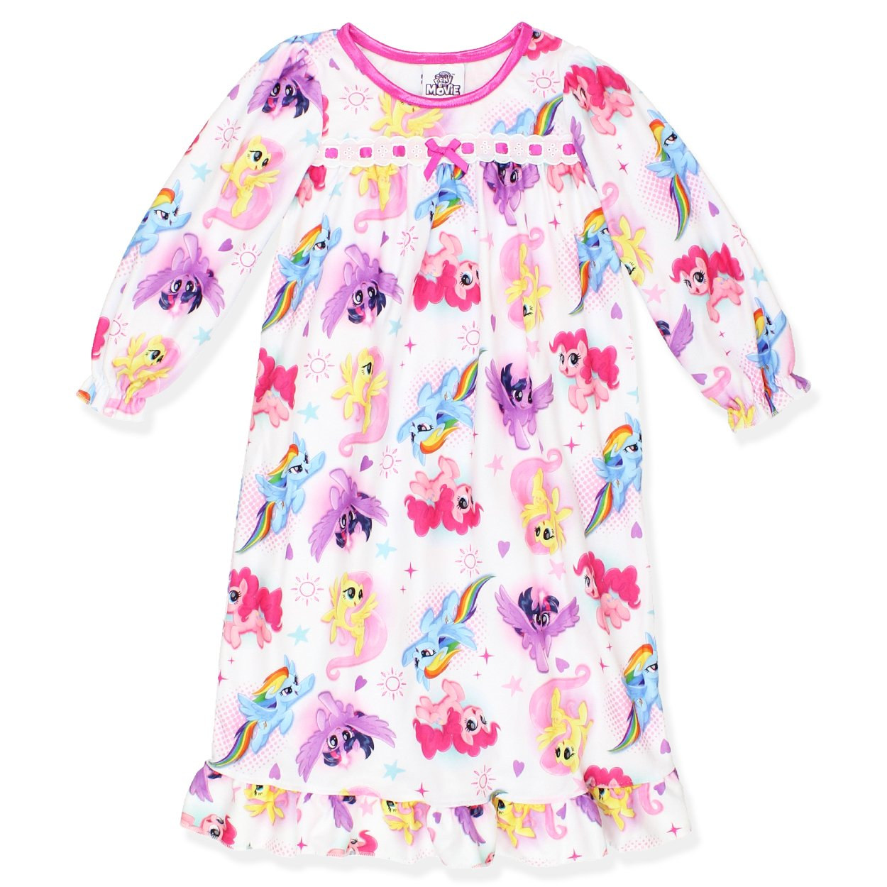 My Little Pony Girls Flannel Granny Gown Nightgown Toddler//Little Kid//Big Kid