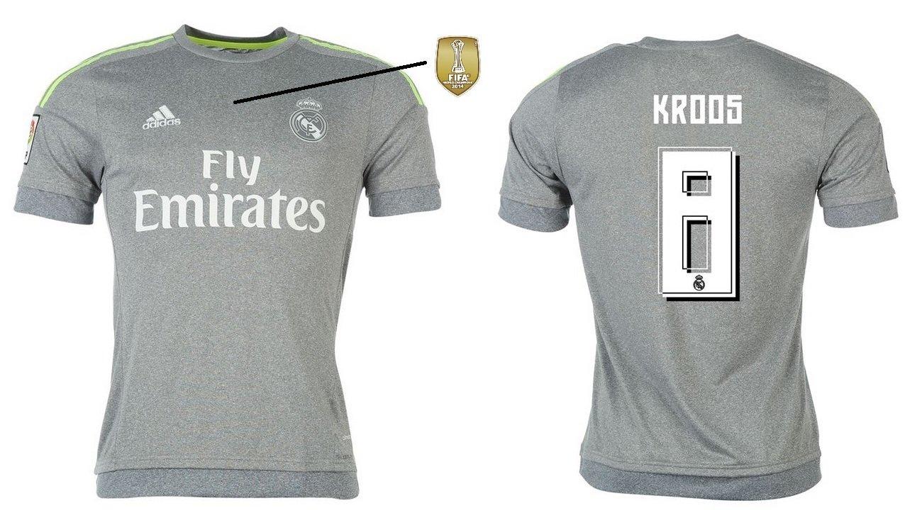 Trikot Kinder Real Madrid 2015-2016 Away WC - Kroos 8
