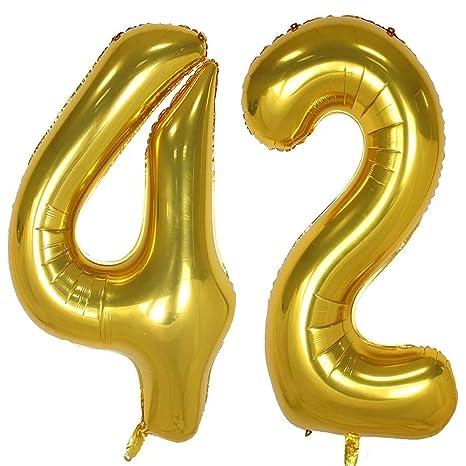 Amazon.com: 42 globos de 40 pulgadas dorados con globo sw-42 ...