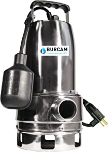 BURCAM 300527 3/4 HP Stainless Steel Submersible Sump Pump