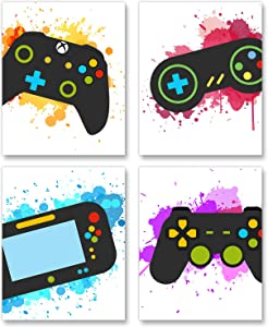 Video Game Art Print-Colorful Gaming Themed Canvas Wall Art (8