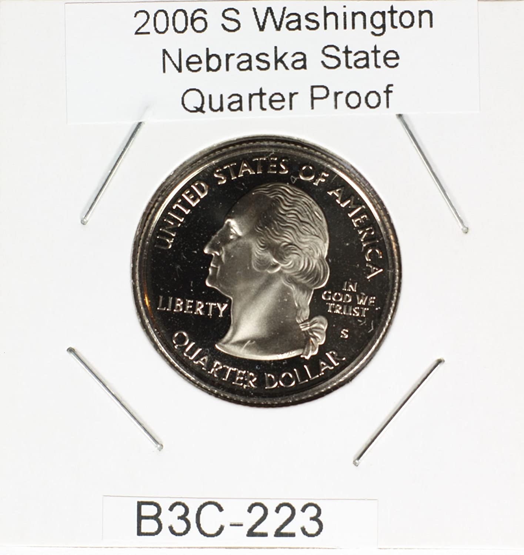 2006 S Silver Proof Nebraska Washington Quarter