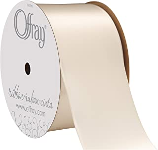 "product image for Offray Berwick 2.25"" Single Face Satin Ribbon, Cream Ivory, 10 Yds"