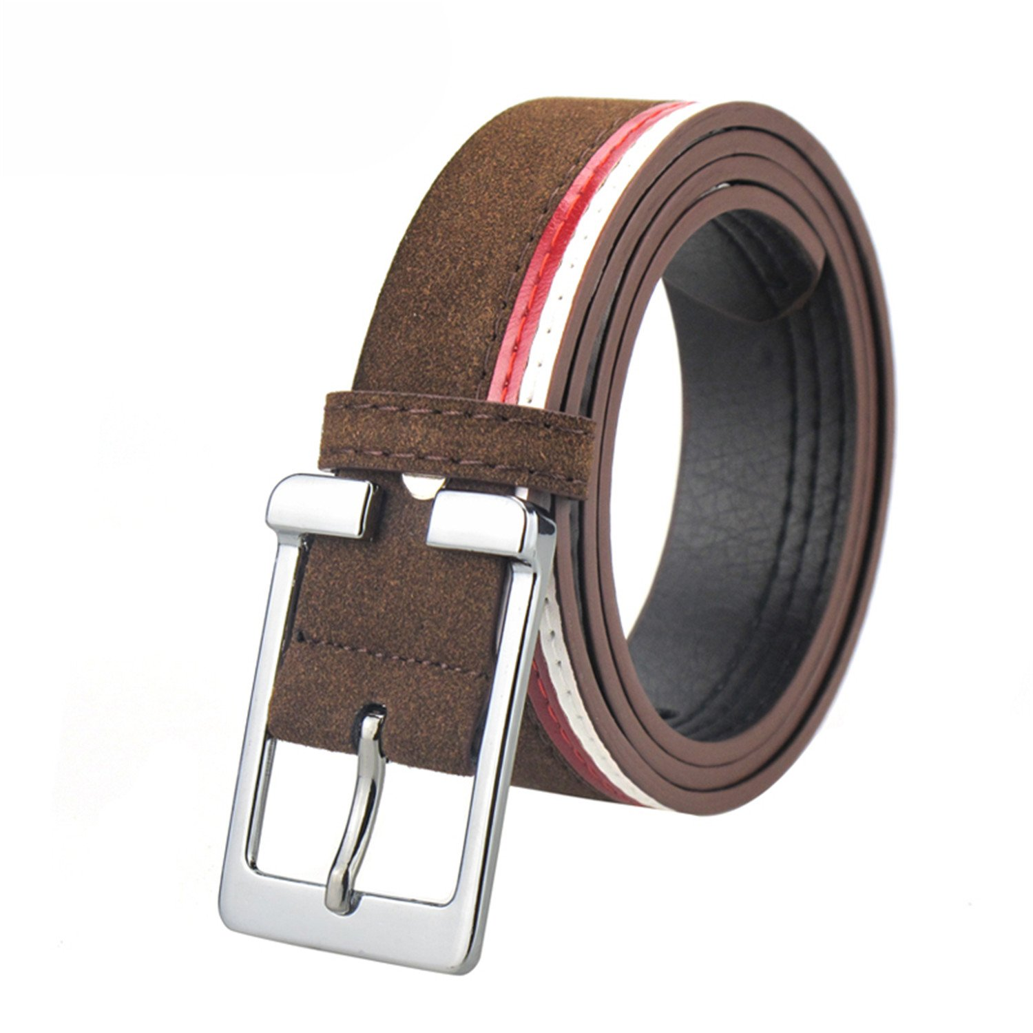 Susan1999 Luxury Suede Leather Belts For Men Belt Metal Pin Buckle Belt For Casual Jeans 4 Colors