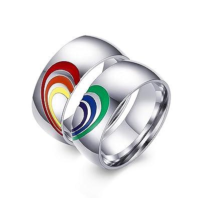 Amazon.com: Nanafast - Anillos de compromiso para pareja con ...