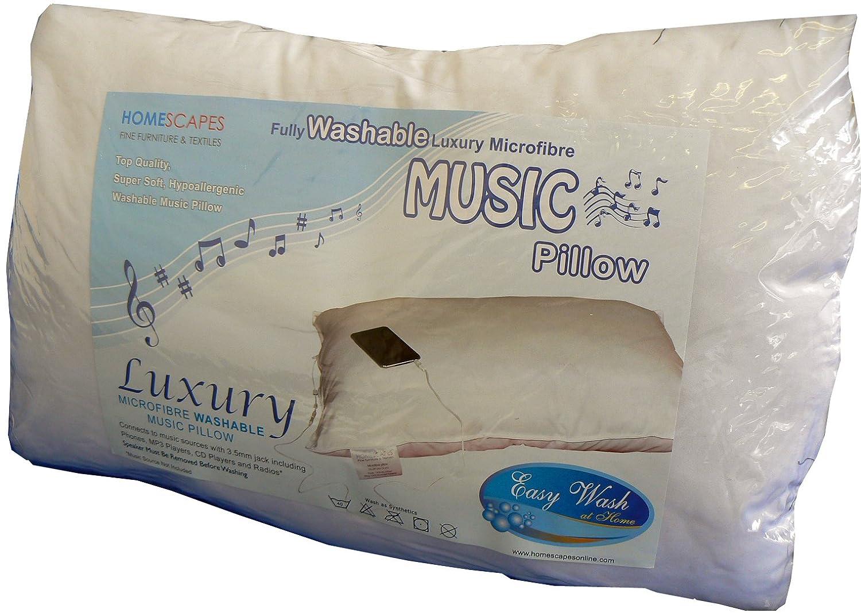 Ipod Pillow Oreiller Musical Lavable Synthactique En Microfibres De 50 X 75 Cm
