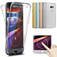 Galaxy S8 Hülle,Galaxy S8 Schutzhülle,ikasus Full-Body 360 Grad Klar Durchsichtige TPU Silikon Hülle Handyhülle Tasche Case Front Back Double Beidseitiger Cover Schutzhülle für Galaxy S8,Klar