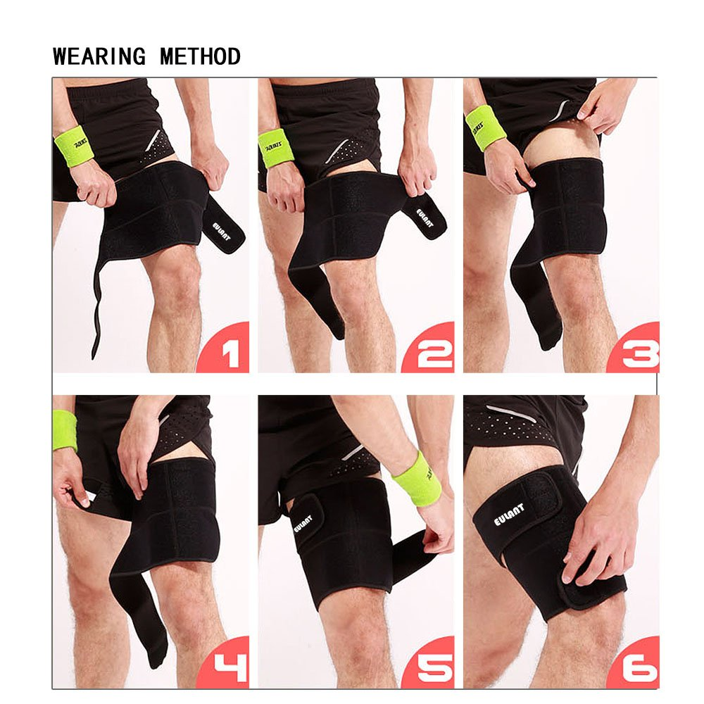ONT Thigh Brace Support Strap Men Women Thigh Brace Supports Right /& Left Leg Thigh Brace Bandage Hamstring Support Thigh Bands for Weightlifting Jogging Fitness Basketball Soccer