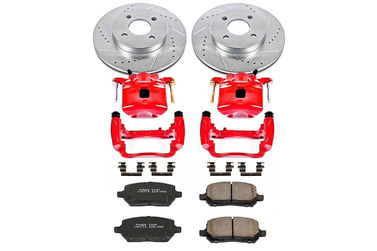 Front Only Power Stop KC1604 1-Click Performance Brake Kit with Calipers