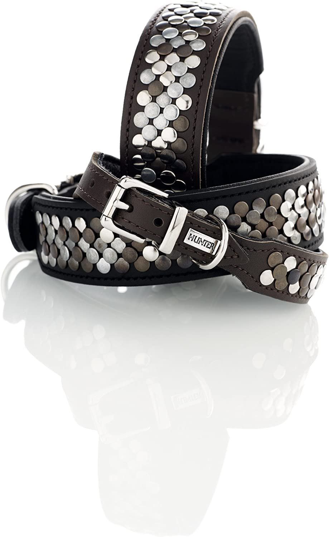 HUNTER Arizona Gr 32 Soft Leather Collar Black//Nappa Black 50 35 x 43 cm