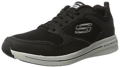 Skechers Flex 2.0, Chaussures Multisport Outdoor Homme, Bleu (Nvor), 45 EU