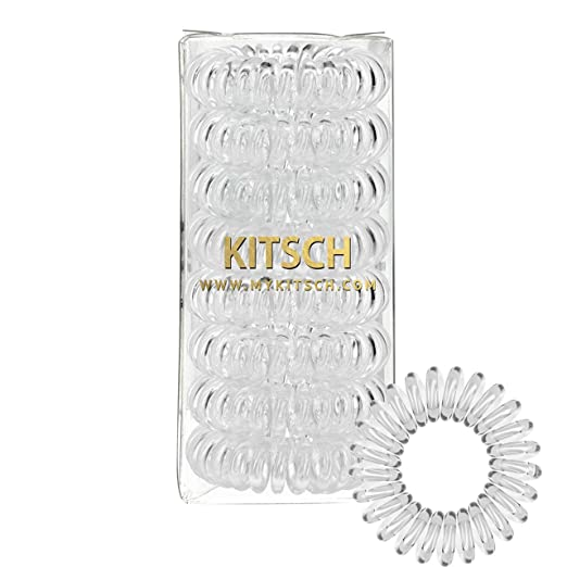 Kitsch 8 Piece Hair Coil Set (Transparent) by Kitsch