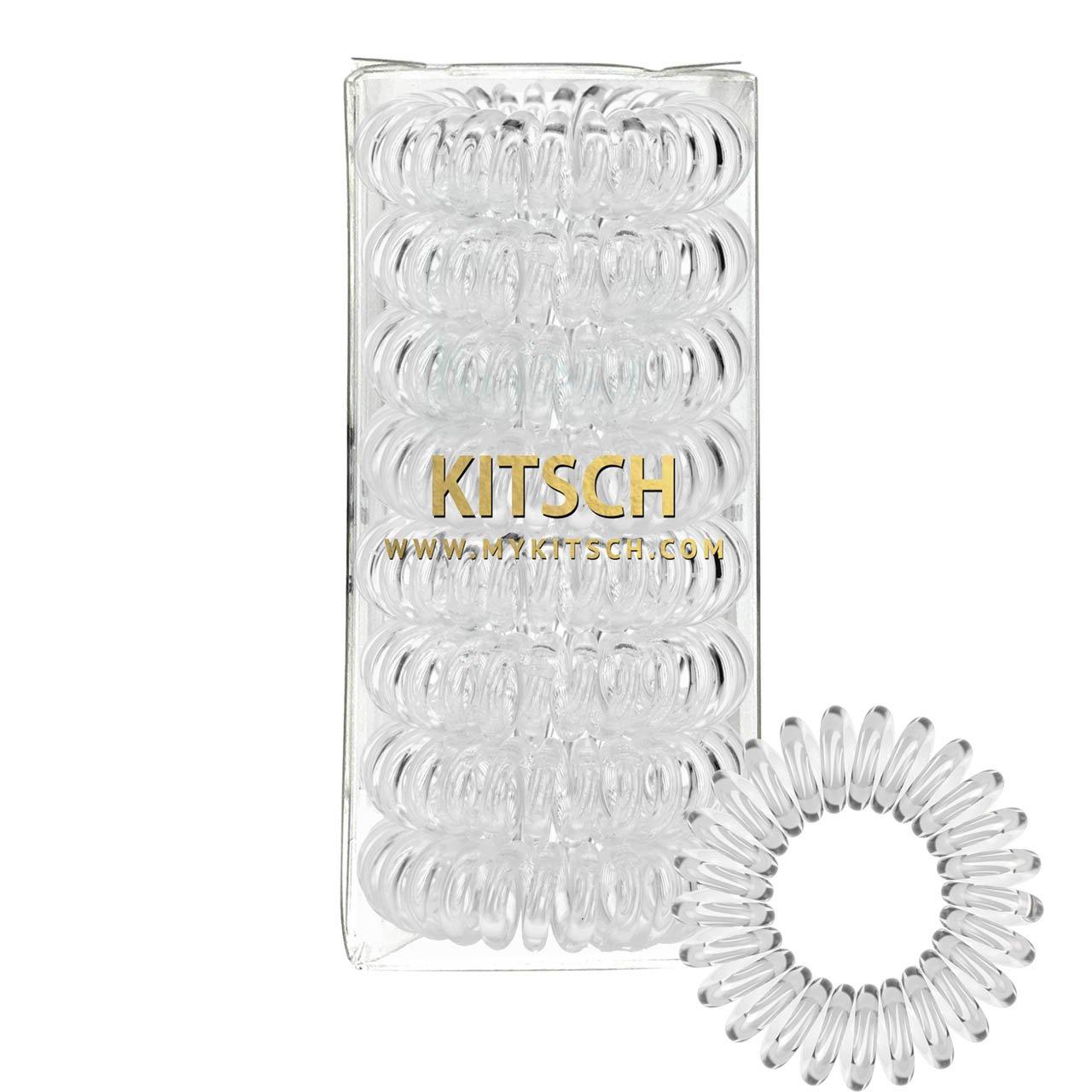Kitsch 8 Piece Hair Coil Set (Transparent)