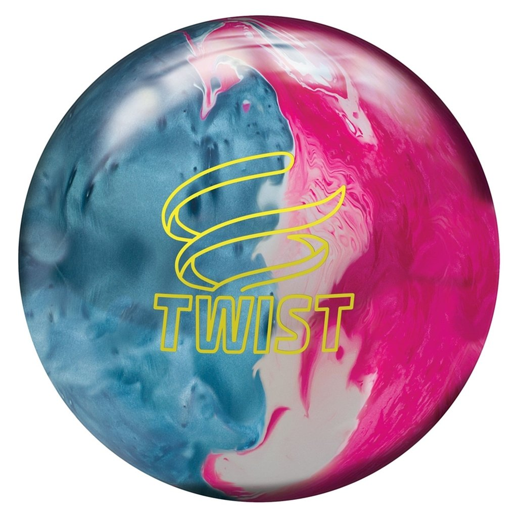 BrunswickツイストReactive pre-drilled Bowling ball-スカイブルー/ピンク/雪 B07F2GZPW4 13lbs
